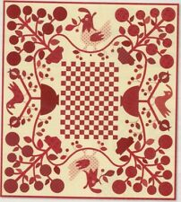 Bird Hills Lane - traditional style applique and pieced quilt PATTERN
