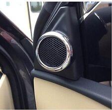 2pcs Chrome Front Door Speaker frame Cover Trim for Toyota Corolla 2014 2015