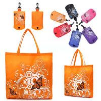 1x Reusable Folding Shopping Bag Eco Travel Grocery Holiday Tote Handbag Shopper