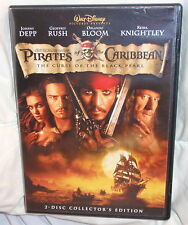 PIRATES OF THE CARIBBEAN: THE CURSE OF THE BLACK PEARL DVD 2 DISC JOHNNY DEPP