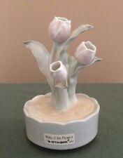 Otigiri Japan Porcelain Tulips Musical Figurine Waltz Of The Flowers Vtg Rare