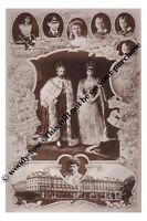 mm754 - King George V & Mary & children Coronation souvenier - photograph 6x4
