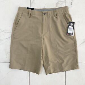 NTW UA Under Armour Match Play Golf Shorts Mens Size 34 Beige 1253487 254