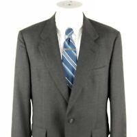 Hart Schaffner Marx Men's 40 S Gray 2 Button Wool Sport Coat Blazer Short Jacket