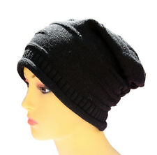 Thick Slouchy Knit Crochet Baggy Skullies Beret Oversized Beanie Cap Hat