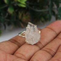 Raw Herkimer Diamond Statement Ring 925 Sterling Silver Ring Handmade Jewelry