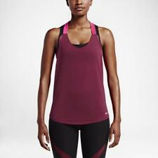 NIKE Women's Elastika Elevate JUST DO IT Tank Top Shirt Maroon Pink Size Medium