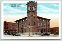 Meridian Mississippi~Federal Government Building~Post Office~Street~1920s Cars
