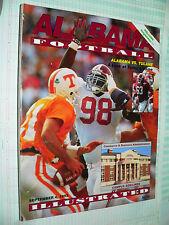 Alabama vs. Tulane Football Illustrated  September 4, 1993 program