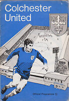 Football Programme>COLCHESTER UNITED v NOTTS COUNTY Sept 1970