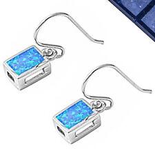 """Blue Australian Opal .925 Sterling Silver Earrings .75"""""""