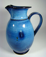 Krug Blaue Glasur Bogler-Lindig  Era German Pottery Pitcher Bauhaus 1920 1930