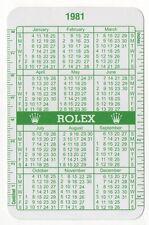 1981 1982 vintage Rolex CALENDARIO VERDE 6265 1680 6263 1655 1803 1665 1675 5513