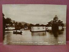 Old Real Photo Postcard RPPC Aldochlay House Boats Luss, Loch Lomond Scotland