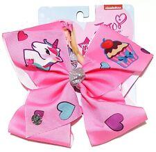 JoJo Siwa Large Signature Hair Bow Unicorn Cupcake Hearts Pink Spring Summer