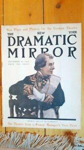 RARE Sep 18, 1912 New York Dramatic Mirror w/ George Arliss cover