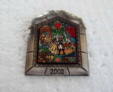 *~*DISNEY RARE BEAUTY & THE BEAST DVD RELEASE STAINED GLASS WINDOW LE PIN*~*