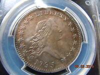 1795 FLOWING HAIR HALF DOLLAR, PCGS GRADED AU, O-131, HIGH R-4, BEAUTIFUL COIN!