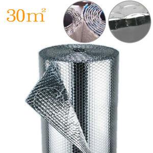 4FT x 82FT Double Aluminium Foil Insulation Thermal Heat Loft Van w/ Foil Bubble