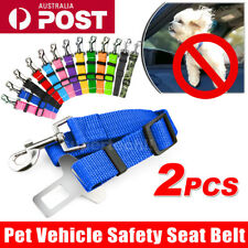 2x Pet Car Vehicle Seat Belt Safety Seat belt Harness Leash Lead Dog Cat Adjust
