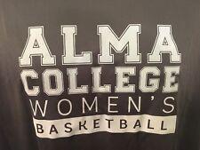 ALMA COLLEGE Women's Basketball T-Shirt Medium Gray 100% Polyester SCOTS