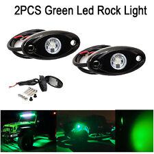"2PCS 2"" Green CREE LED Rock Light JEEP Wrangler Off-Road Under Wheel Rig Lights"