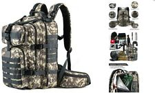 Camo Military Tactical Backpack Bug Out Bag Molle Army Plate Carrier Camping New