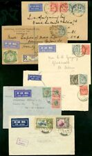 Kenya, Uganda, Tanganyika 1932-5 flown covers (x6)