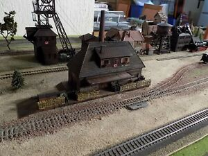 FALLER, WWII MILITARY TRAIN STATION , SCALE HO