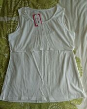 White PatPat sleeveless nursing/breastfeeding top