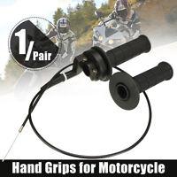 "7/8"" 22mm Throttle hand Grip Twist Cable Kit 50 90 110 125cc ATV PIT Dirt BIKE"