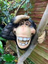 Monkey App gorilla Tree Peeker Garden Decor Ornament Figure Hugger Sculpture NEW