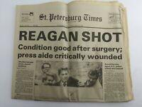 """Regan Shot"" March 31, 1981 St. Petersburg Times Newspaper (A1A)"