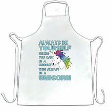 Novelty Unicorn Chef's Apron Always Be Yourself Unless You Can Be A Unicorn