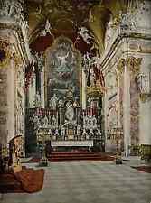 Schwyz. Einsiedeln. Der Hauptaltar in der Wallfahrtskirche. PZ vintage photochro