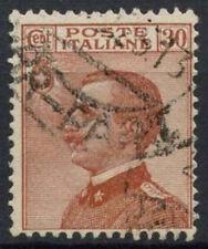 ITALIA 1917-23 SG n. 106, 30c Arancione Marrone Usato #D 8849