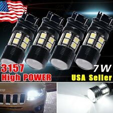 4X 3157/3156 White 6000K High Power 7W Back Up Reverse Projector LED Light Bulbs