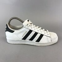 Adidas Superstar Sneakers Trainers White Leather Lace Up Shoes C77124 Size UK7