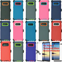 For Samsung Galaxy Note 8 Defender Rugged Case Cover (Belt Clip Fits Otterbox)
