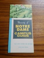 University of Notre Dame Campus Guide Map (1965) [18x20] Stadium Indiana