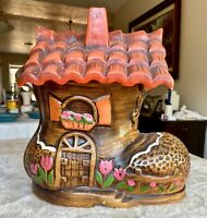 Vintage Old Woman Who Lived In a Shoe Cookie Jar