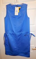 New St John SoCa Newport Blue Sleeveless Jumper Dress sz S $445