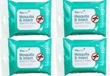 100 x Anti Mosquito Repellent Insect Midges Pest Wipes Holiday Bite Protection