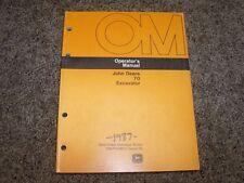 John Deere 70 Excavator Factory Owner Operator User Guide Manual Omth106311