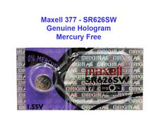one 377 MAXELL WATCH BATTERIES SR626SW SR626 V377 SR66 Super Fresh US Seller