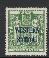SAMOA-1935-42 5/- Green Sg 190  MOUNTED MINT