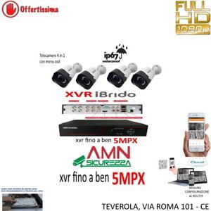 KIT VIDEOSORVEGLIANZA CLOUD DVR 8 CANALI 4 TELECAMERE 5MP AHD + HD500GB CCD SONY