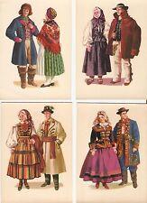 Postcard: Poland -Set of 11 postcards: Polish folk costumes/Polske stroje ludowe