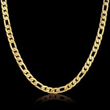 18 Karat Gold Kette plated Edelstahl Halskette Panzerkette Damen Herren | NEU