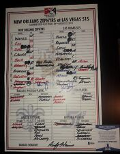 Noah Syndergaard Las Vegas 51s Autographed Official Lineup Card Beckett Authenti